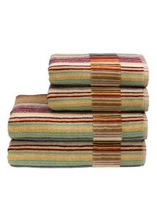 Christy Supreme capsule stripe towels spice