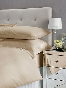 Christy Satin Plain Dyed King Fitted Sheet Gold