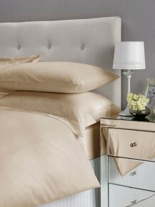 Satin plain dyed bedding range in gold