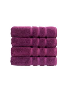 Modena towel colelction in Amethyst