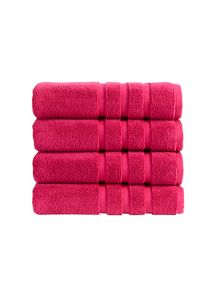 Modena towel collection in Magenta