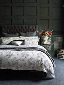 Christy Etched bedlinen range in pewter