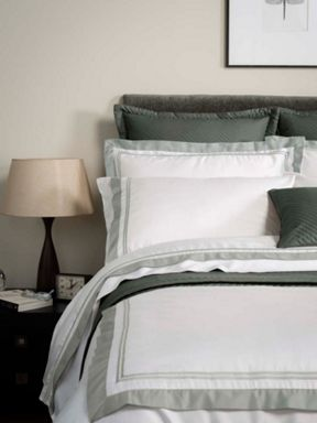 Christy Coniston bed linen range in Silver