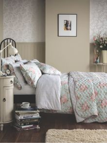 Polly bedspread set ranges in Duck Egg