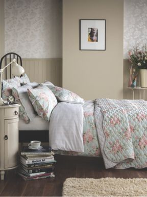 Ditton Hill Polly bedspread set ranges in Duck Egg