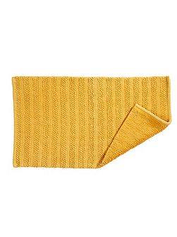 Lifestyle face towel mustard