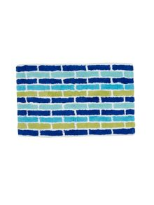 Subway towel & mat range in Blue