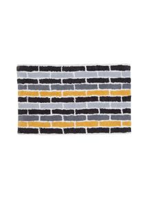 Subway bath towel & mat range in Steel