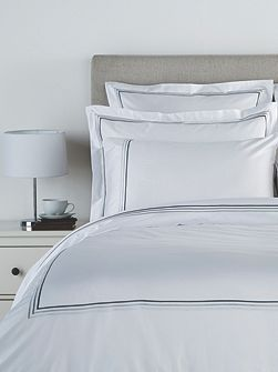 Luxury egyptian double flat sheet white