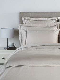 Luxury egyptian oxford square pillowcase linen