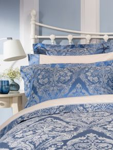 Christy Byron bed linen range in Smokey Blue
