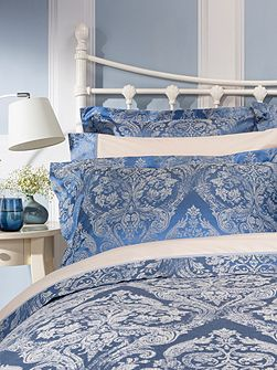 Byron oxford pillowcase pair smokey blue