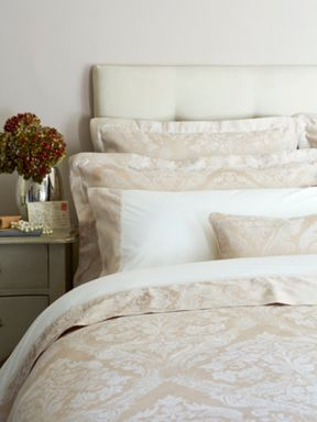 Christy Byron bed linen collection in Gold