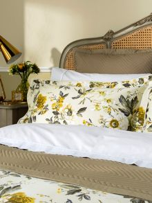 Orchid oxford pillowcase pair ochre