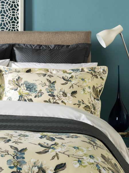 Christy Orchid oxford pillowcase pair duck egg