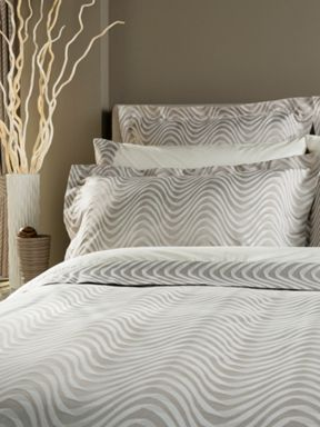 Christy Milton bed linen collection in Oyster