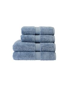 Christy Plush towel range in Stonewash