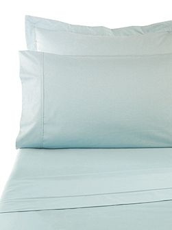 Sand 300tc fitted sheet single aqua