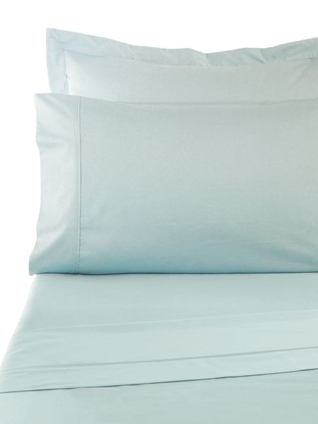Sanderson Sand 300tc fitted sheet king aqua