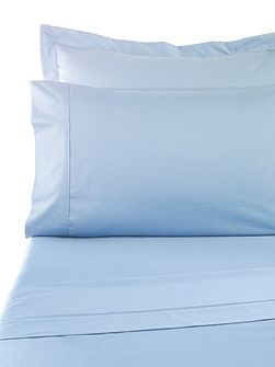 Sand 300tc fitted sheet single blue