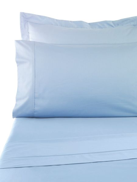 Sanderson Sand 300tc flat sheet double blue