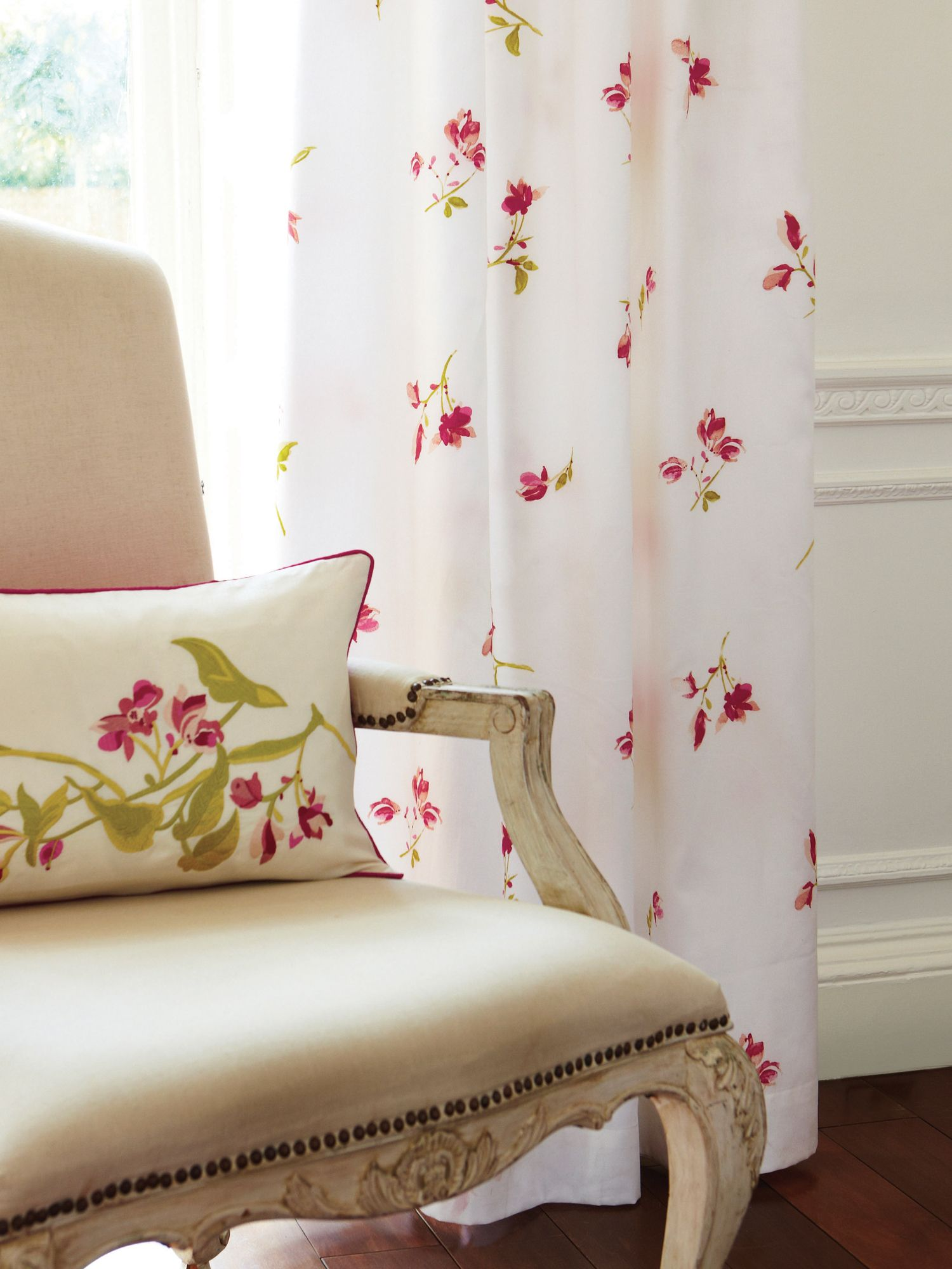 Maiori curtains in pink