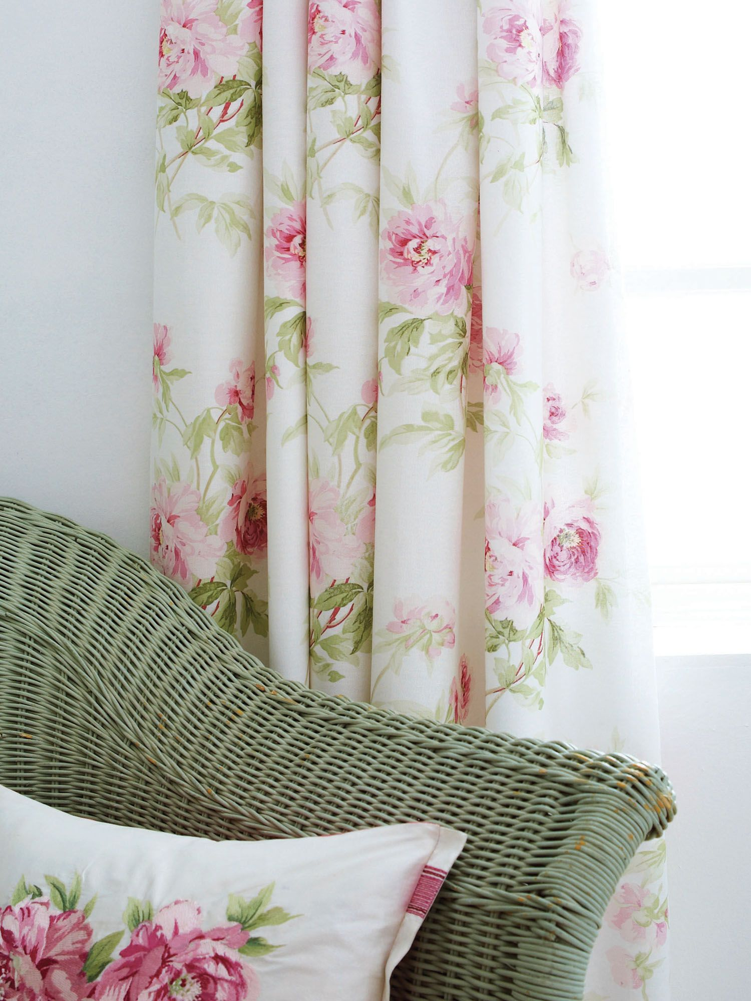 Adele curtains in raspberry