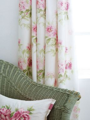 Sanderson Adele curtains in raspberry
