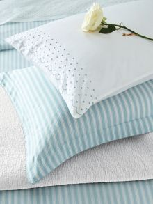 Tiger stripe oxford pillowcase aqua