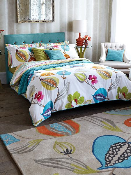 10 Kitchen And Home Decor Items Every 20 Something Needs: Harlequin Tembok Double Duvet Cover Turquoise