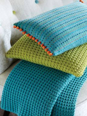 Harlequin Snug throws and pillows