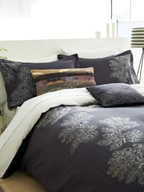 Bedeck Fortino bed linen range in grape