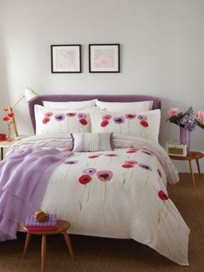 Sanderson Poppies bed linen in lilac