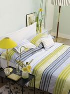 Designers Guild Purbeck bed linen in chartreuse