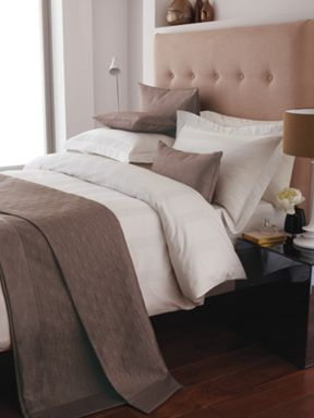 Bedeck Park Lane bed linen range in ivory