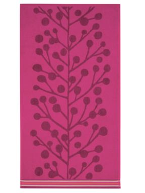 Scion Berry tree towels in red multi