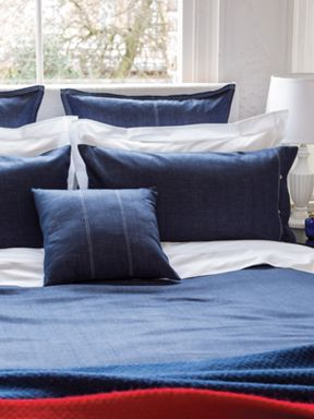 Bedeck Hampton bed linen in denim