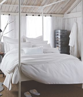 Bedeck Sanctuary bed linen in white