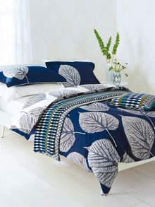 Leaf pillow case oxford navy