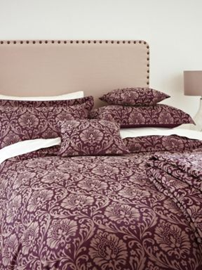 Sanderson Ashby jacquard bed linen in berry