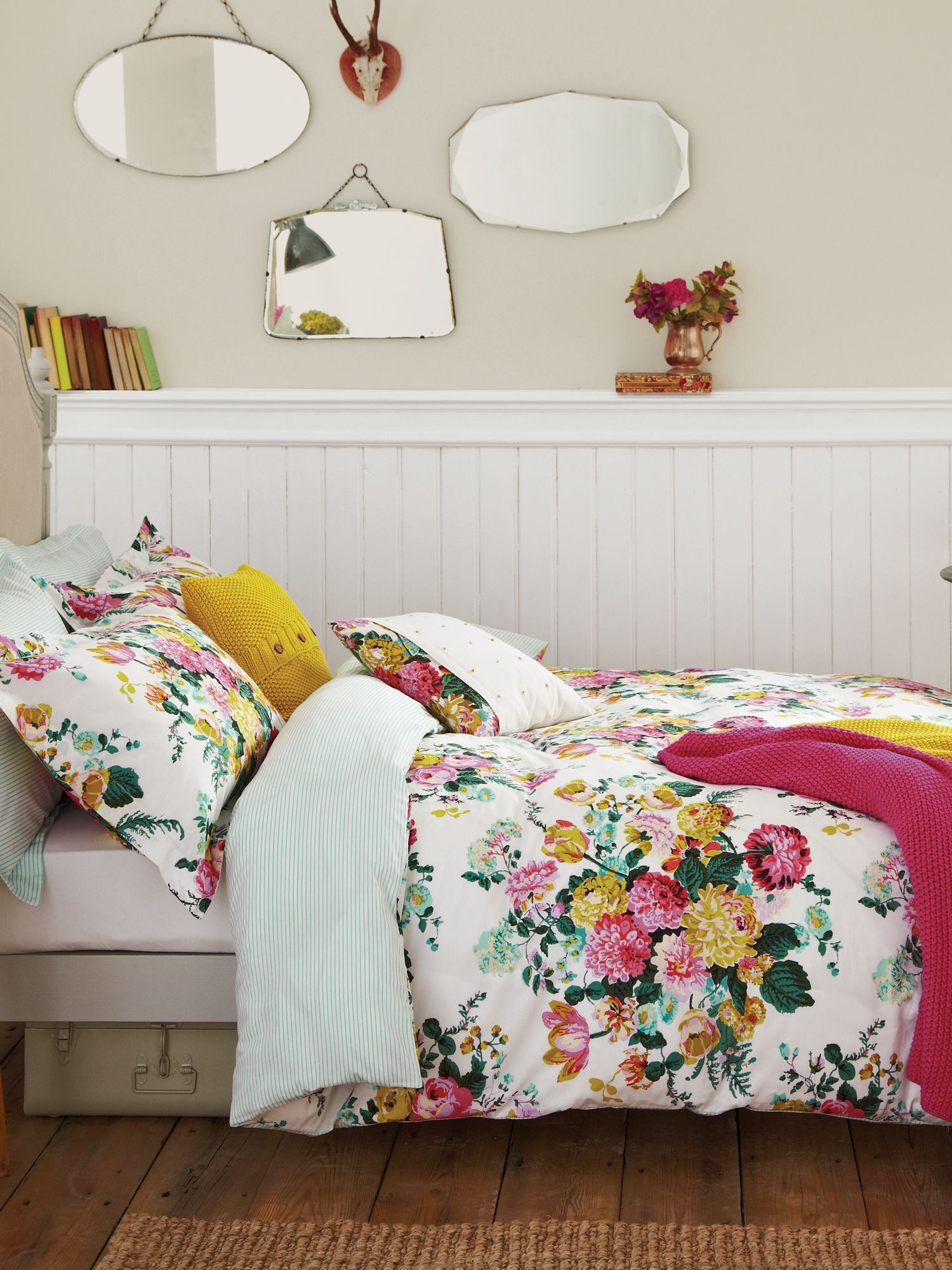 Ruby floral bed linen range
