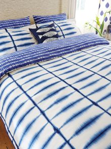 Shibori pillowcase housewife pair indigo