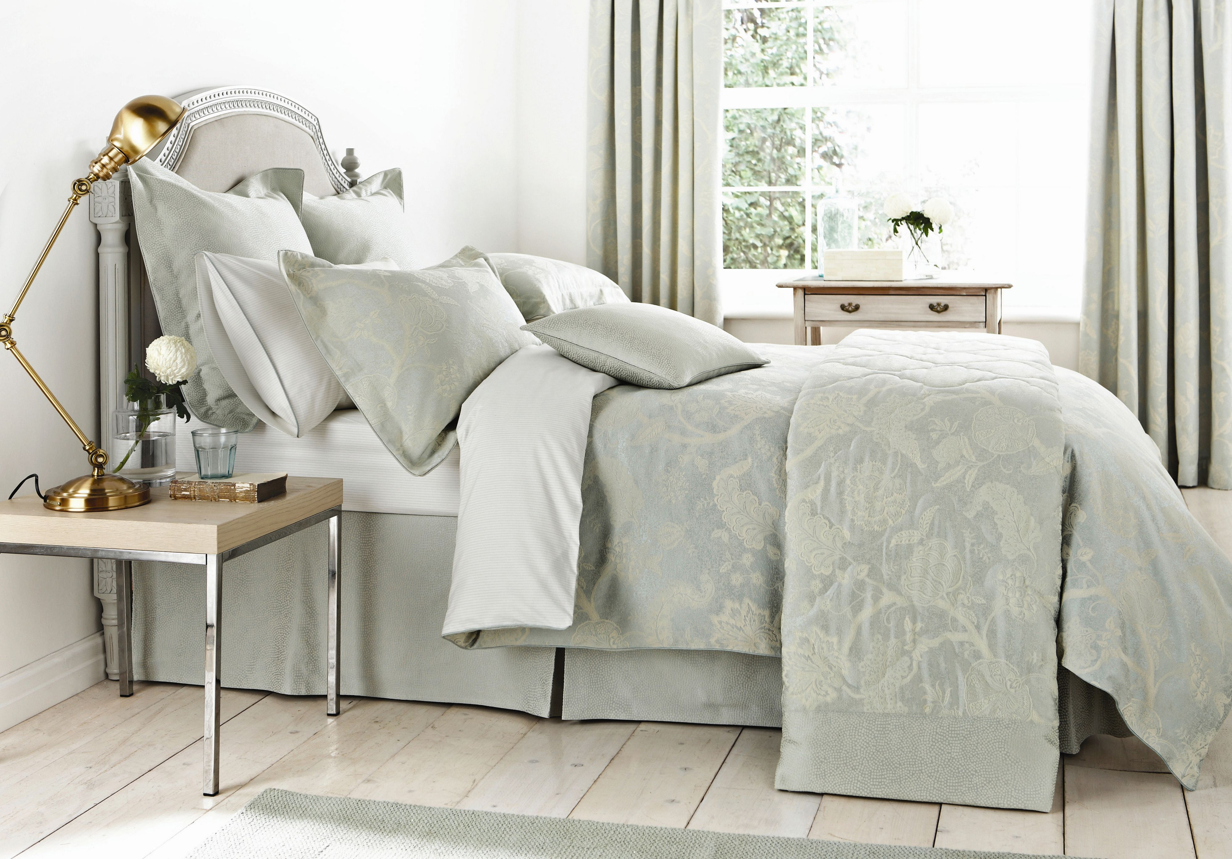 Palampore Jacquard Bedding in Duck Egg