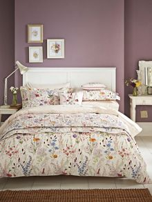 V&A Blythe meadow king size duvet cover set in multi
