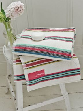 Joules Bath Stripe towel range