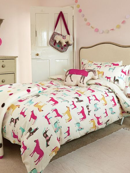 Joules Horseplay duvet cover d/b creme