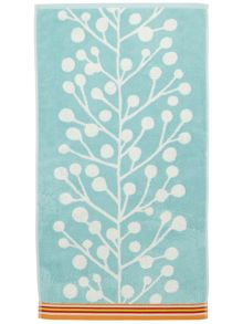 Berrey Tree towel range in aqua