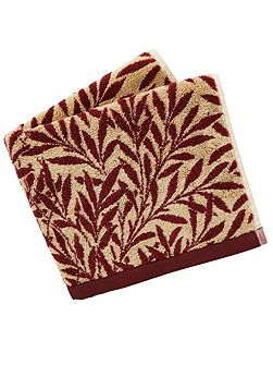 Morris & co willow towels bath russet