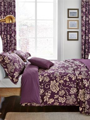 Helena Springfield Asteria bed linen range in Berry