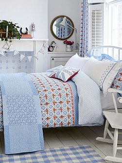 Sunday best pillowcase housewife blue